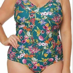 NWT Jessica Simpson Plus Size One Piece 1X Swim